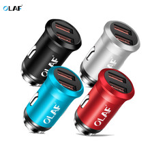 Olaf Dual USB Car Charger For Mobile Phone Tablets GPS 2.4A