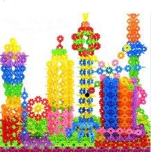 600Pcs 3D Puzzle Jigsaw Plastic Snowflake Building Blocks Building Model Puzzle Educational Puzzle Educational Intelligence Toys