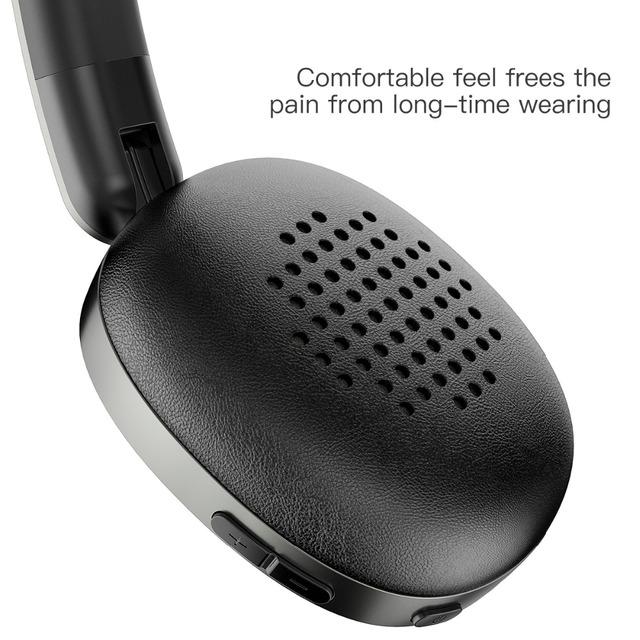 Baseus D01 Wireless Bluetooth Headphone Stereo bluetooth earphone wireless headset Young attitude headphones with Mic for phone