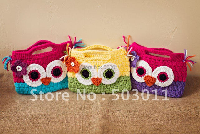 5 Pcssoooo Cute Crochet Owl Pursecrochet Knitted Walletchildren