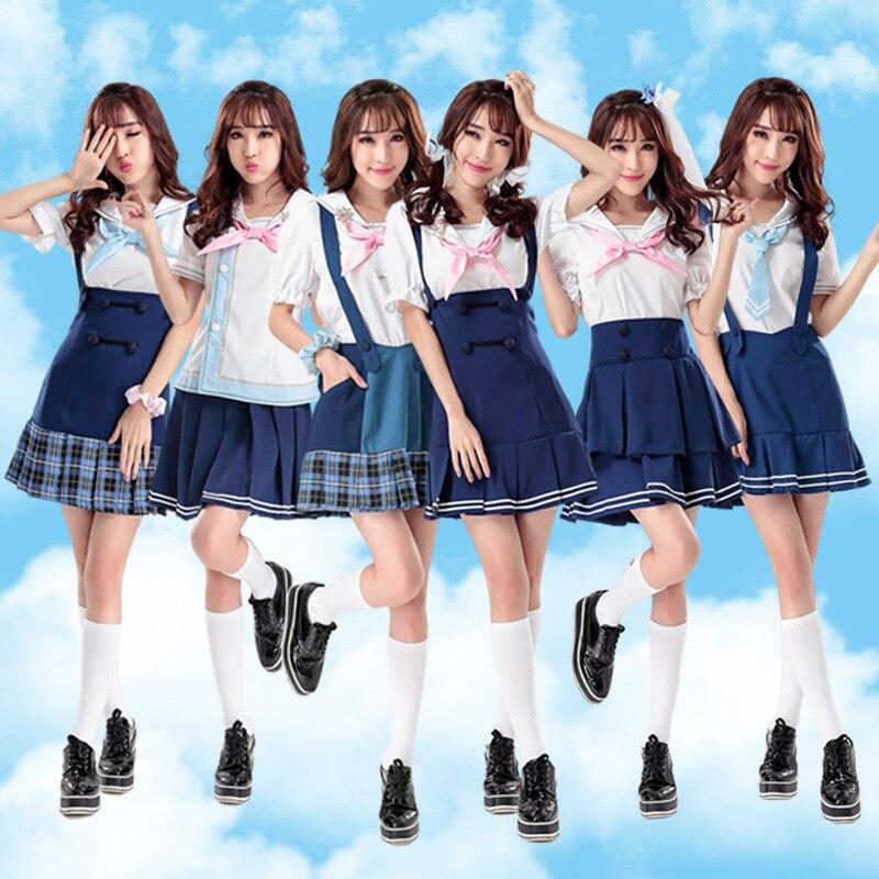 COSREA Love Live Maki Nishikino Yazawa Nico Tojo Nozomi Kousaka Honoka Hoshizora Rin Navy Sailor  Cosplay Costume Suit Dress
