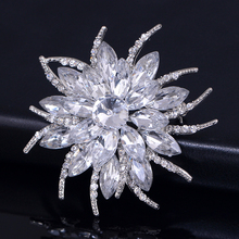 Fashion Broches pins Jewelry Crystal Bouquet Large Rhinestone Brooch wedding decoration Accessories pins and brooches For Women