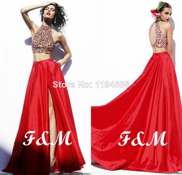 Vestidos largos de noche color rojo