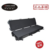 Tool case toolbox suitcase Impact resistant sealed waterproof safety long gun case 1290x343x150mm camera case with pet cut foam