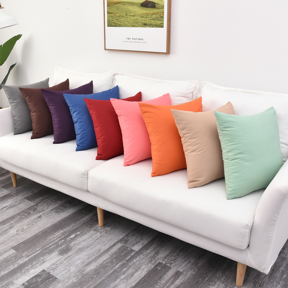 Sofa cushion cover 40x40/45x45/50x50/55x55/60x60/65x65/70x70cm waterproof fabric throw pillow cover outdoor pillow case image