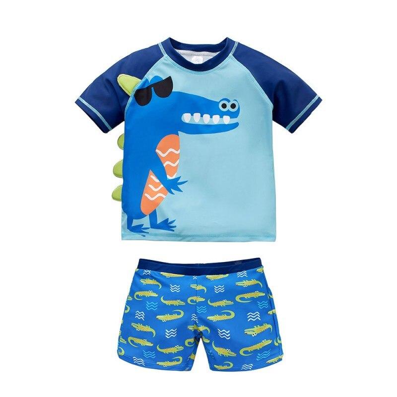 NYAN CAT Baby Swimwear Boys Infant Toddler Swimwear Kids Shark Dinosaur 2Pcs Swimsuits Cartoon Baby Boy Swimwear Beach Wear