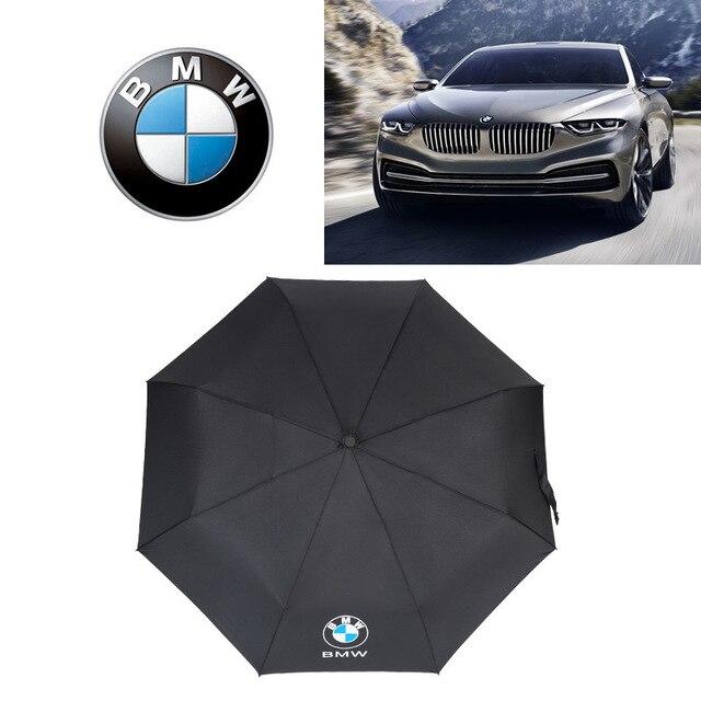 Creative Automatic Three Folding Mini Shade Umbrella Custom Car Logo