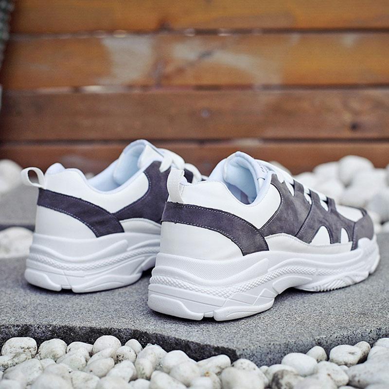 Noir Décontractées Surom Krasovki Plat Tenis Masculino gris En Nouvelle À Sneakers apricot Chaussures Marque Printemps Mode Talon Hommes Lacets Cuir K1JcTlF3