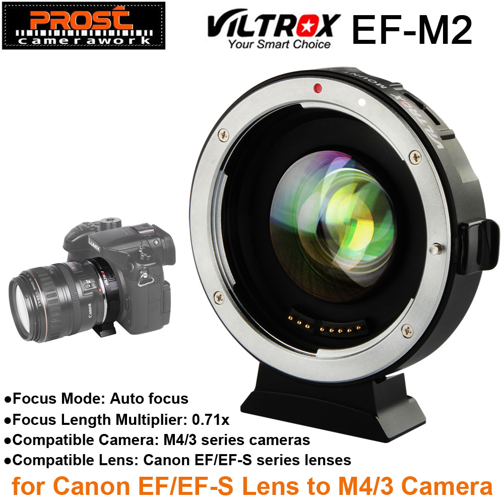 Viltrox EF-M2 AF Auto-focus EXIF 0.71X Reduce Speed Booster Lens Adapter Turbo for Canon EF lens to M43 Camera GH4 GH5 GF6 GF1 camera auto focus lens adapter ii for canon eos ef ef s to sony full frame nex a7 a7r