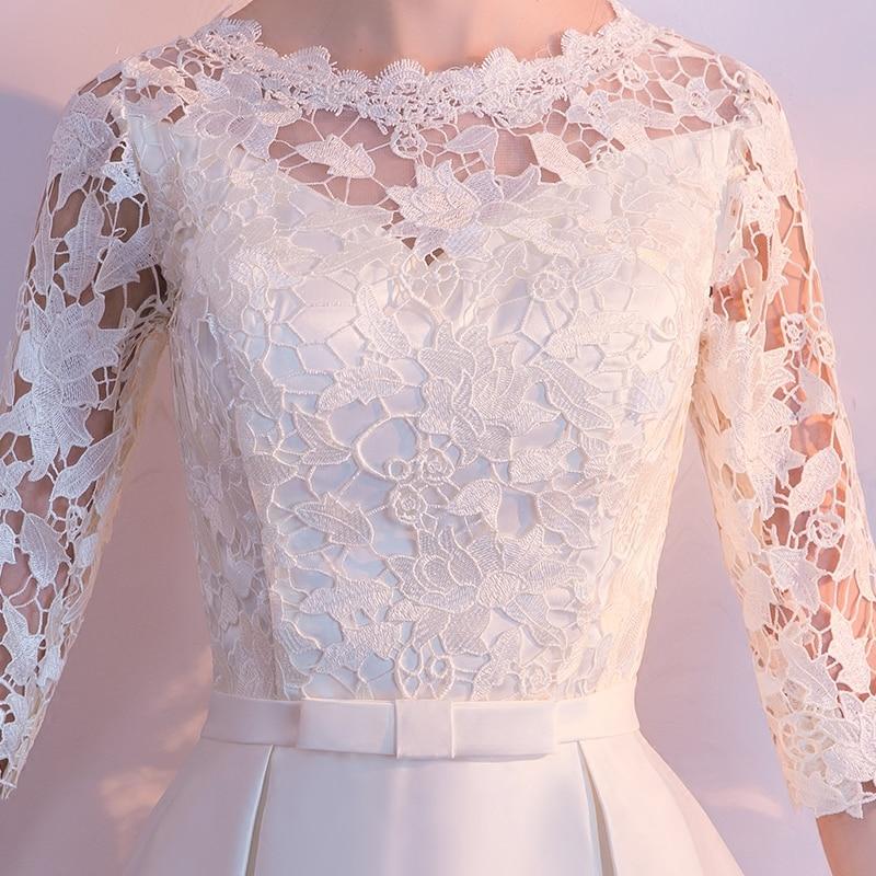 Kratka večernja haljina 2018 nova Elegantna O-vrata Jednobronska - Haljina za posebne prigode - Foto 4