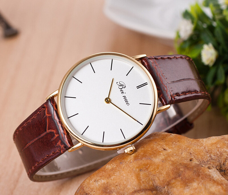 99 Hot Sell Top Brands Men Women Watch Luxury brands Wristwatches Ultra thin fashion Leather Quartz