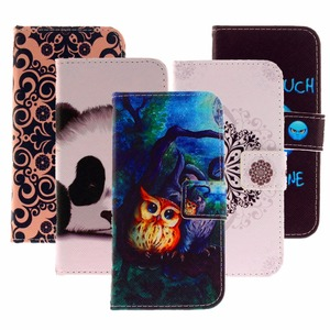 Color painting Bracket Leather Wallet Case For Huawei P10 Lite P9 P9Lite P8 Lite 2017 Cover Shell Card Holder Flip Leather Phone