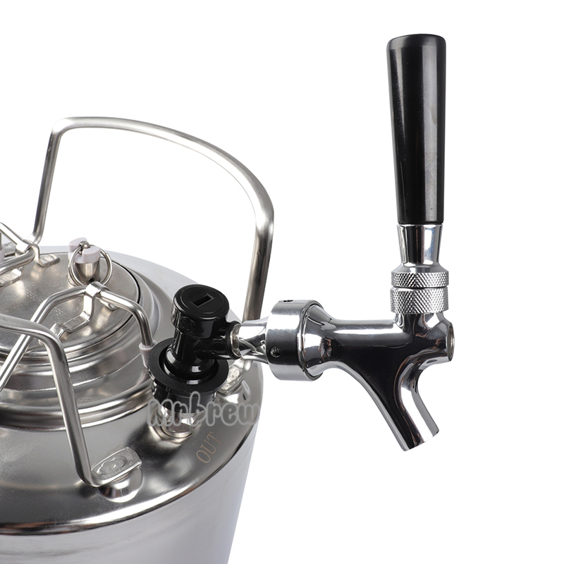 Homebrew 6L Cornelius style Ball lock Beer Keg & Chrome Plated beer faucet tap & co2 keg charger kit-in Beer Brewing from Home & Garden    2