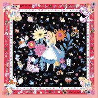 Alice nel Paese Delle Meraviglie Magico Lampada Di Stile di Modo Bello Regalo Sciarpa Sciarpe Quadrate Multifunzione Buona Accessorio di Abbigliamento DW16