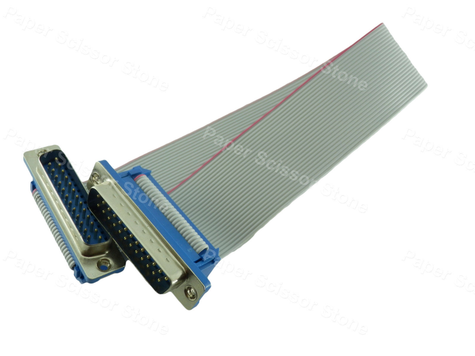 12 Inch DB25 Male to Male RS232 Serial / Parallel Port Ribbon Flat Cable 12x serial port connector rs232 dr9 9 pin adapter male