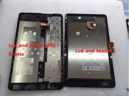 Version A 5468W lcd and touch with frame For DELL Venue 8 Pro Display With Touch Screen Digitizer Assembly Free Shipping b080uan01 4 lcd led touch screen digitizer glass assembly frame for dell venue 8 3840 tablet 5613w fpc 1