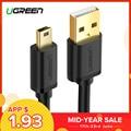 Ugreen Mini Cable USB a USB rápido Cable de cargador de datos para MP3 MP4 jugador coche DVR GPS Digital cámara HDD Mini USB