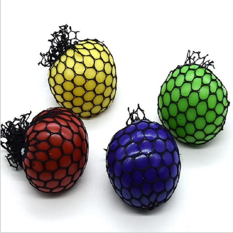 Squishy Mesh Ball Squeeze ball Novelty in Sensory fruity Kid Play EDC Stress Relief Sensory Fun Toy Autism Hand colour Random