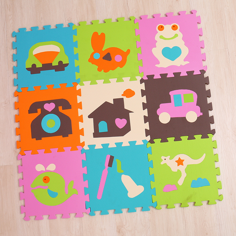 infant baby kids soft foam playing puzzle mats children playing mat phone car toothbrush rabbit room