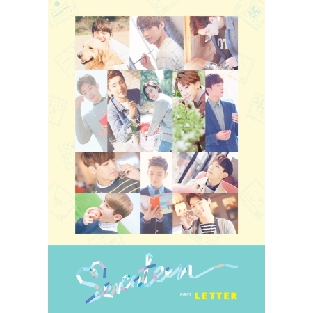 SEVENTEEN 1ST ALBUM - FIRST LOVE & LETTER -  LETTER VER. ( + Booklet 148p + 3 Postcard + Stamp Sticker Design Set )  KPOP ALBUM first love