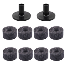 8 Pcs Drum Cymbal Pads Felts + 2 Stand Sleeve for Drummer Kit Accessories
