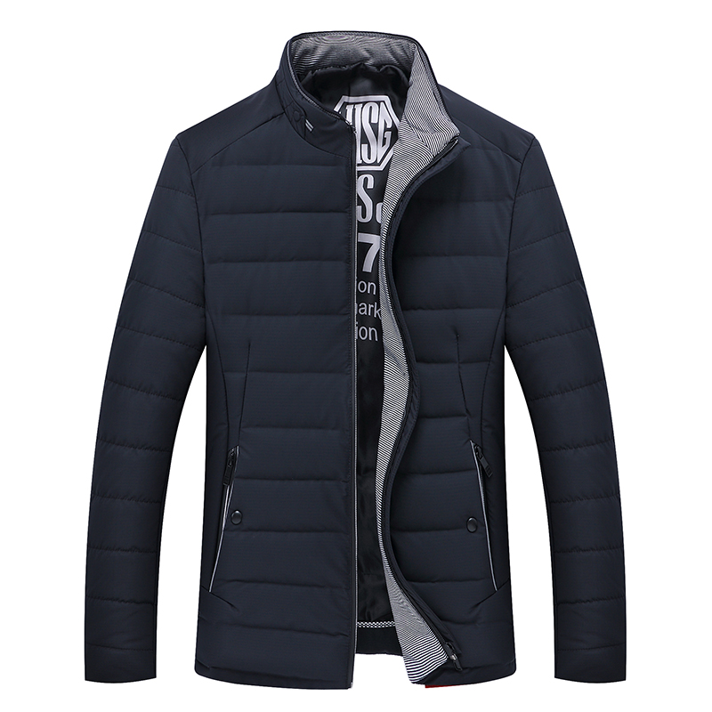 Winter New Male Cotton padded Jacket Men s Clothing Thickening Down Cotton Jacket Slim Plus Velvet