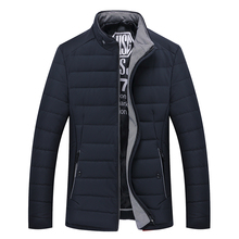 Winter New Male Cotton-padded Jacket Men's Clothing Thickening Down Cotton Jacket Slim Plus Velvet Jacket Coat
