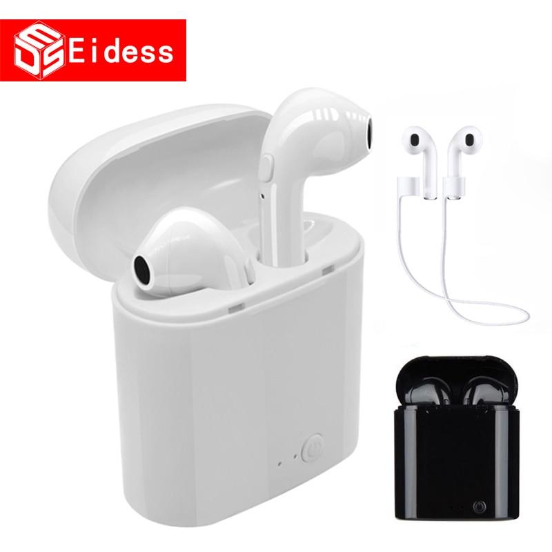 Neue I7s TWS 5,0 Wireless Bluetooth Kopfhörer Stereo Ohrhörer Headset Mit Lade Box Für xiaomi Alle tablet Smart telefon kopfhörer