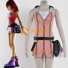 Women's Kingdom Hearts Kairi Dress Cosplay Costume Include Dress+ Belt+ Belt X2+ Leather Bag