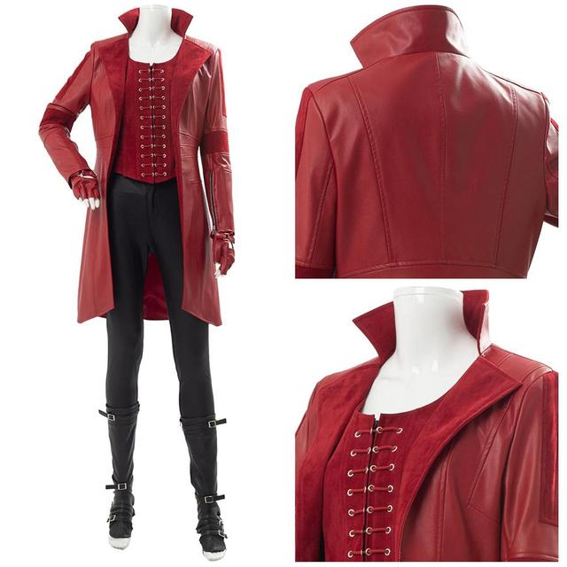 Captain America Civil War Wanda Maximoff Scarlet Witch Cosplay Costume Women Full Sets Outfit Boots for