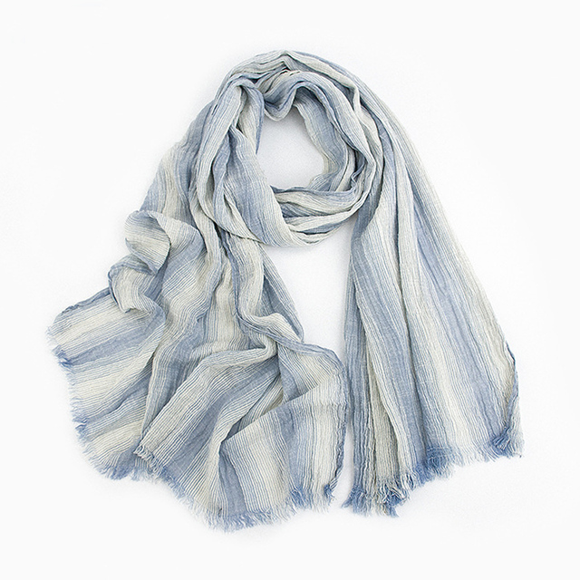 [LESIDA]Autumn And Winter Scarf Women Striped Scarves Pashmina Soft Cotton Shawl Foulard Warm Cachecol Sjaal BufandasMM1012