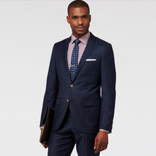 men slim fit suit business groom tuxedo navy blue custom made suits for wedding formal wear 2017 summer suit