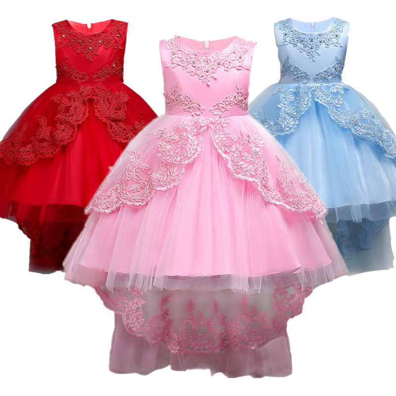Baby Girl Dress Children Kids Dresses For Girls 2 3 4 5 6 7 8 9 10 Year Birthday Outfits Dresses Girls Evening Party Formal Wear new summer pink children dresses for girls kids formal wear princess dress for baby girl 3 8 year birthday party dress