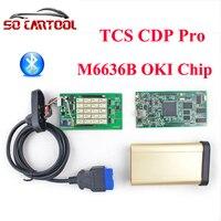 (5 stks/partij) 2014. R3 Software Kwaliteit Een + Golden Auto TCS CDP Pro Met Bluetooth + M6636B OKI Chip Voor Auto/vrachtwagens door DHL Verzending