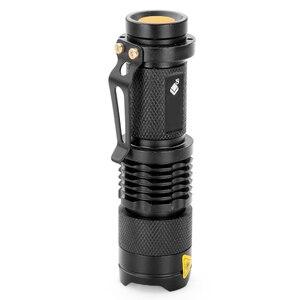 Image 3 - Chống Nước LED Q5 2000lm 3 Chế Độ Phóng To Bán Tự Vệ Không Tazer Sốc Mini Sáng Đèn Pin Đèn Điện