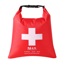 Waterproof Emergency First Aid Dry Bag Sack Rafting Travel Camping Kayaking Walking Soft Flexible Fabric survival red waterproof 2l first aid bag emergency kits empty travel dry bag rafting camping kayaking portable medical bag