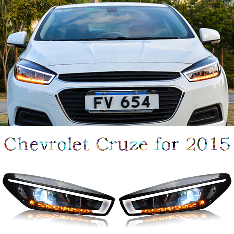 Free shipping ! HID Rio LED headlights headlamps HID Hernia lamp accessory products For Chevrolet Cruze 2015 free shipping hid rio led headlights headlight headlamps hid hernia lamp accessory products for great wall haval h3 2005 2010
