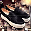 Plus Size 40 Ladies Brand Famous Autumn Platform Footwear Women 2017 Genuine Horsehair Loafers Woman Fashion