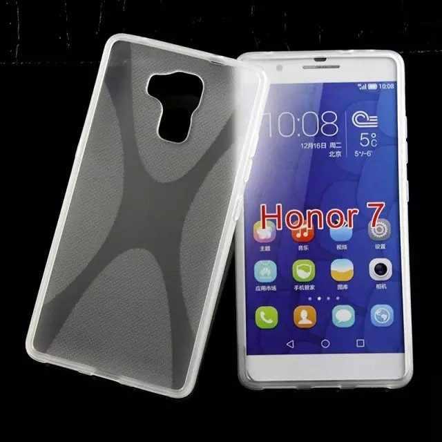 X-line ТПУ задняя крышка чехол для Huawei Honor 7 корпус телефона 200 шт/партия DHL Бесплатная доставка