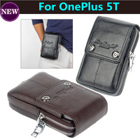 Genuine Leather Carry Belt Clip Pouch Waist Purse Case Cover For OnePlus 5T 6 0inch Mobile