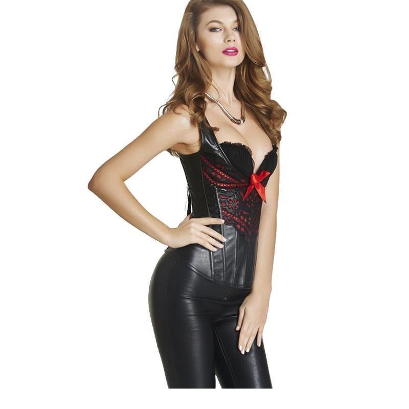 14cf8d077fd88 2016 S-XXL Black Modeling Strap Sexy Shapewear Lingerie Waist Slimming  Corset Punk Hot Body Shaper Sexy Lingerie W46235
