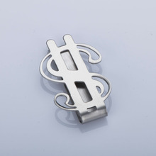 1 pc Creative Cool Money Clip Stainless Steel Dollar Design Holder Smooth Sign Credit Card