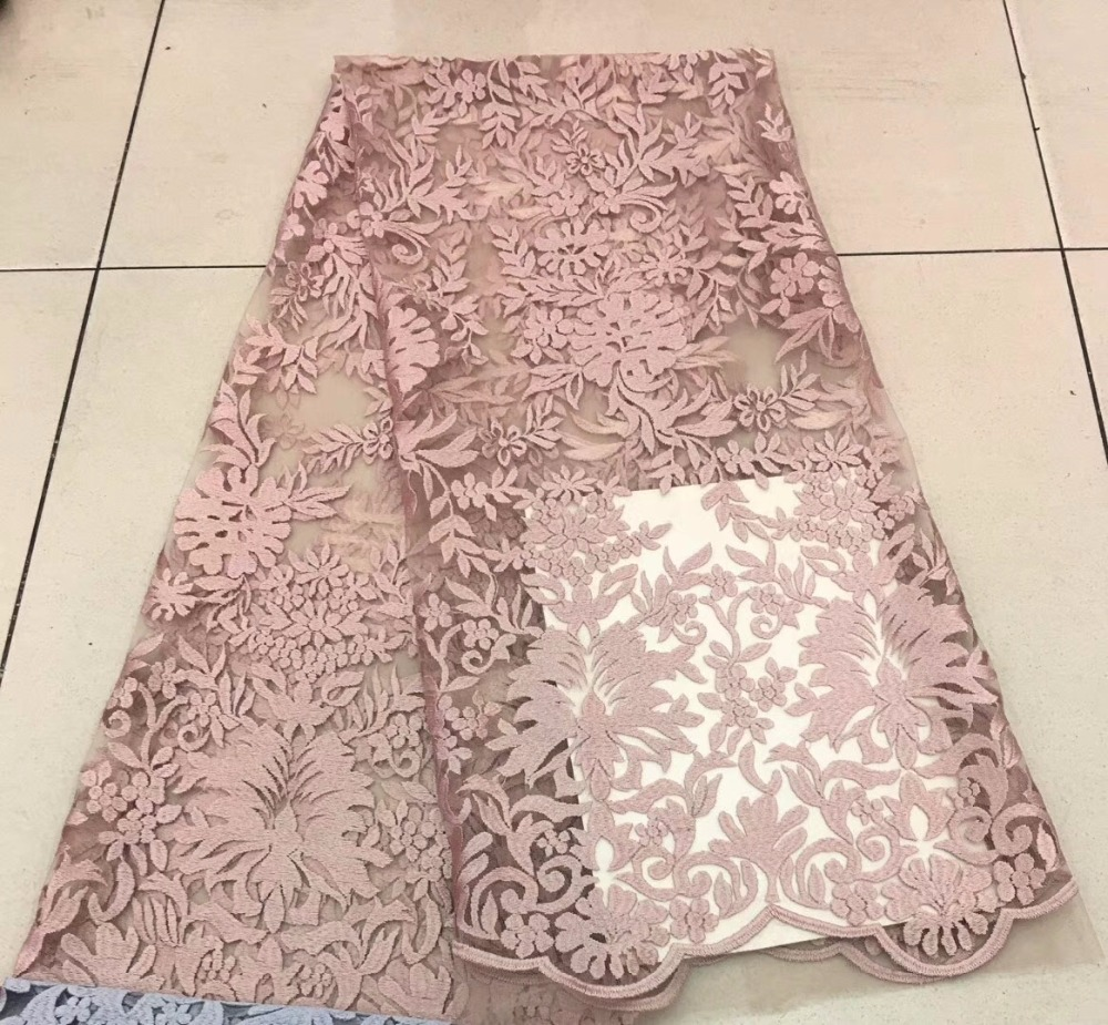 luxury french lace fabric 2018 high quality for evening dresses (5yard/lot)luxury french lace fabric 2018 high quality for evening dresses (5yard/lot)