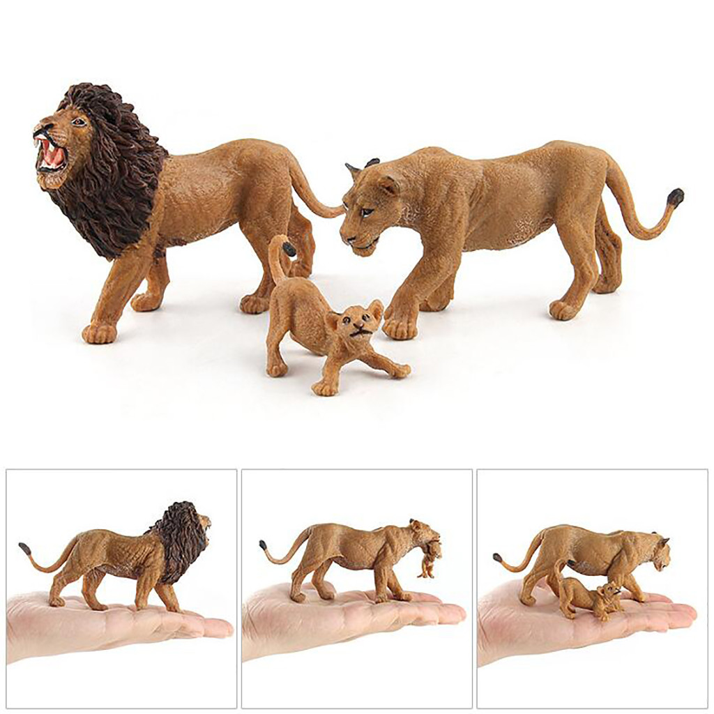 Educational Science Lion Animal Model Ornament Figurine Toy For Kids Gift