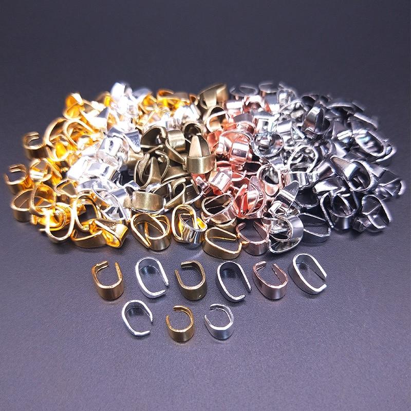 50 шт. 7x4/9x5 мм соединители для подвесок на ожерелье, зажим для подвесок, зажим, подвесная Пряжка, фурнитура для ювелирных изделий «сделай сам»