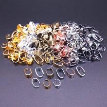 50 pçs 7x4/9x5mm colar pingente conectores clipe de pingente fecho pitada clipe fivela de fiança pendurado jóias descobertas diy acessórios