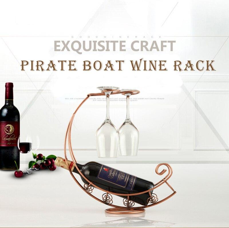 Estilo Europeo Barco Pirata metal vino Vino de lujo titulares ...