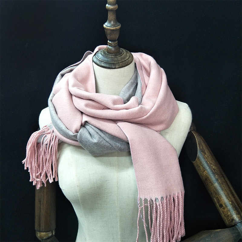 67e83338d0306 ... 2018 New Winter Womens Scarves Thick Warm Cashmere Scarf Fashion Tassel  Shawl Pashmina Double Sided Classic ...