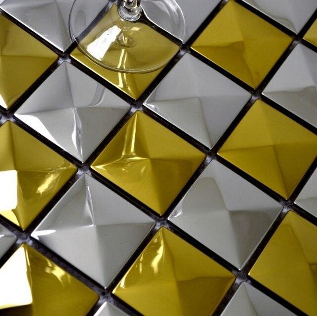3D Konvex Ausgebildet Pyramide Muster Edelstahl Metall Mosaik Fliesen Für  Küche Backsplash Fliesen Wintergarten Bad