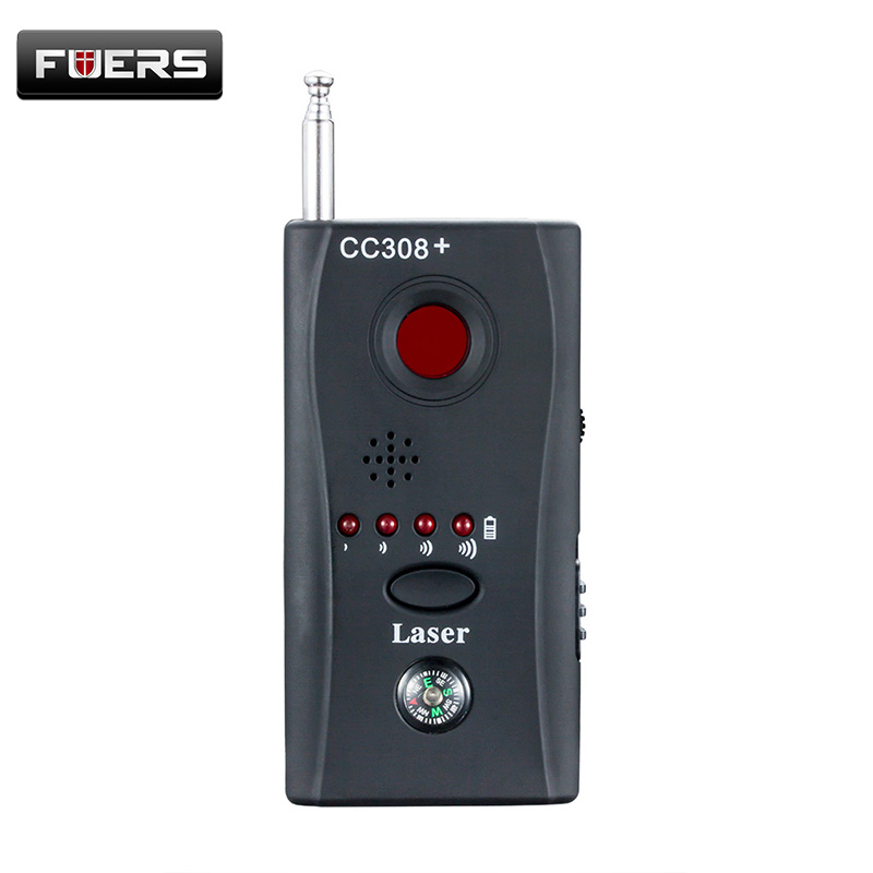 Wireless RF Signal Detector CC308 + Multi-Function Camera Bug GSM Alarm System WiFi GPS Laser built-in battery Full Range free shipping multi function detectable rf lens detector full range wireless camera gps spy bug rf signal gsm device finder
